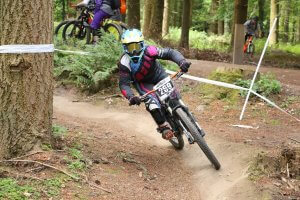 Flow MTB rider Elin Berry at round 2 MIJ summer series forest of dean
