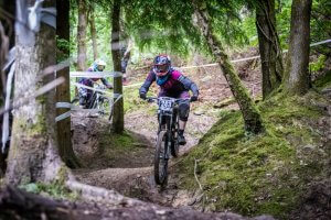 Flow MTB rider Kate Gries round 2 MIJ downhill 2017