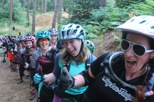 flow mtb - girl bike van - mtb instruction competition winners woburn bike park