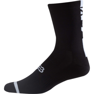 Fox 8 inch mtb logo trail sock black