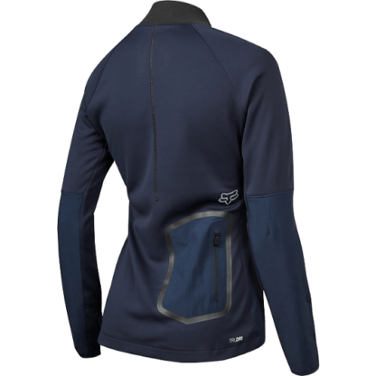 Fox women's attack thermo long sleeve mtb jersey navy
