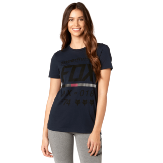 Fox womens drafter short sleeve top in midnight blue