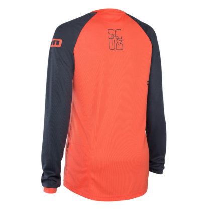 ION Scrub womens long sleeve MTB jersey in hot coral from Flow MTB