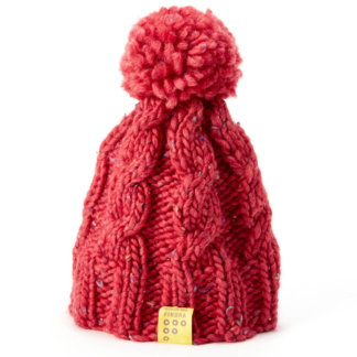 FINDRA bobble hat in berry available at FLOW MTB
