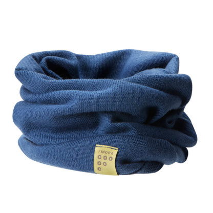 Findra Merino Neck Warmer in Air Force Blue