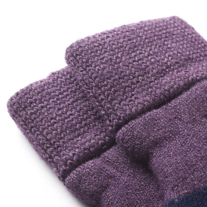 Findra Warm Woolly Cycling Socks Purple Heather