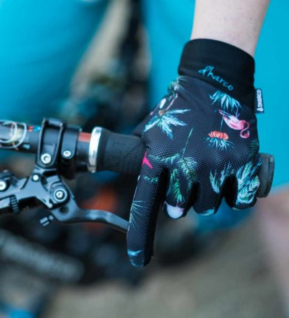 DHaRCO Ladies MTB Glove Flamingo Party