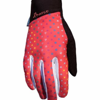 DHaRCO Ladies MTB Glove Ruby Red Stars