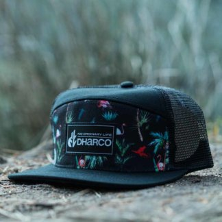 DHaRCO Trucker cap in Flamingo Party print