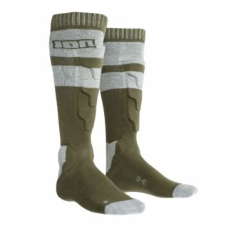 ION shin and ankle protection sock - woodland green