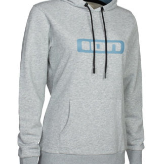 ION women's logo hoodie in grey melange
