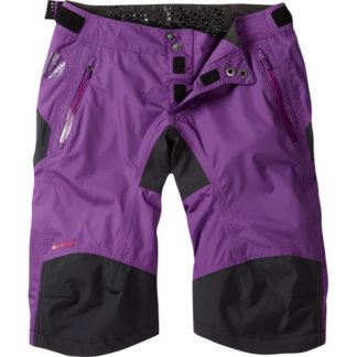 madison womens waterproof shorts purple flow mtb