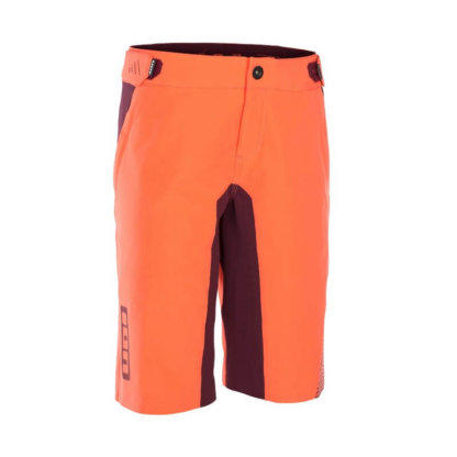 ION women's MTB shorts TRAZE AMP coral