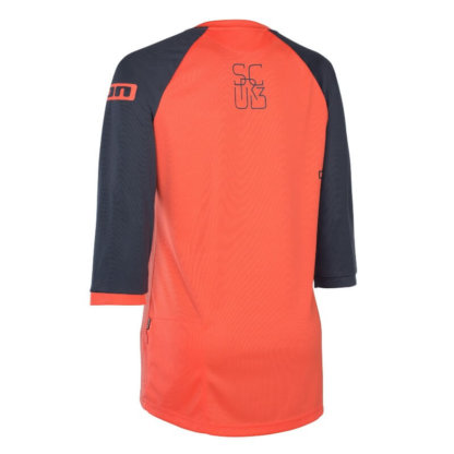 ION womens mid sleeve MTB jersey Scrub hot coral