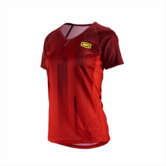 100% Womens Airmatic Skylar MTB short sleeve jersey 2018 Red
