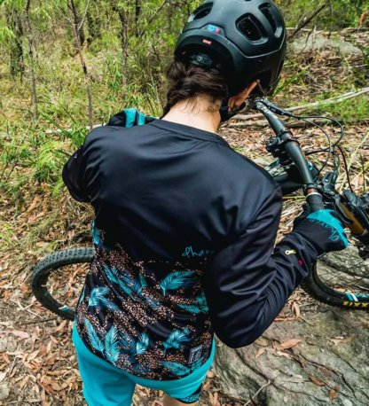 DHaRCO Long Sleeve MTB Jersey Black Leopard