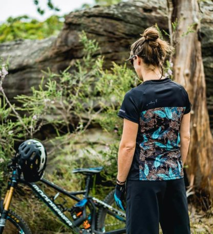 DHARCO Women's short sleeve MTB jersey leopard leaves