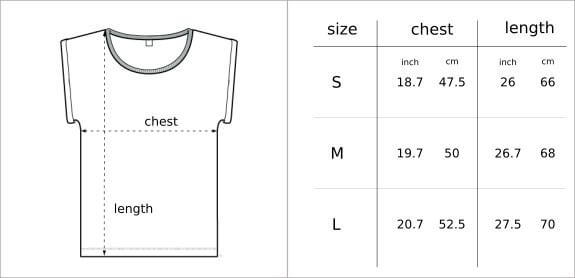 Glower size guide - tees