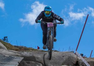 Flow MTB rider Rebecca Smith at round 2 of the National Downhill Series, Fort Willilam