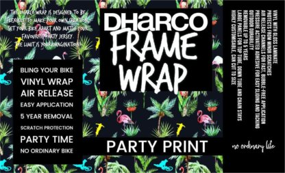 DHaRCO frame wrap in flamingo party print