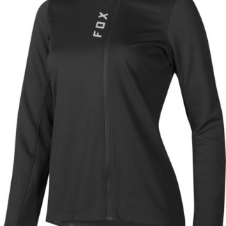 Fox Women's MTB Attack Thermo Long Sleeve Zip Front Jersey - Black