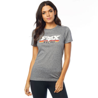 Fox womens retro tee in grey