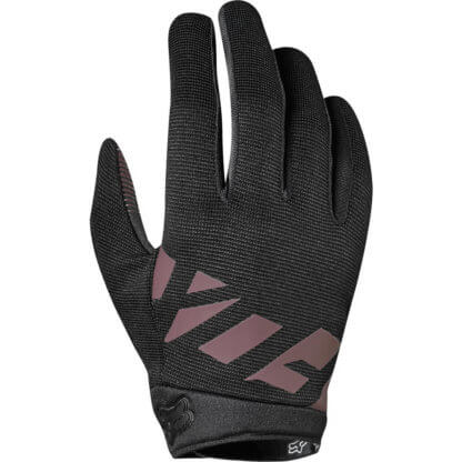 Fox Women's MTB Gloves - Ripley Gloves, Black and Rose