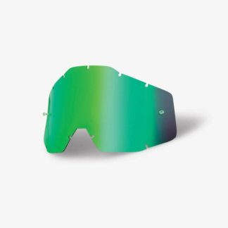 100% Replacement Lens Accuri-Racecraft-Strata, Mirror Green