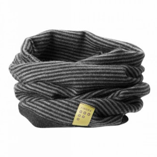 FINDRA Merino neck warner Charcoal and Slate Grey Thin Stripes