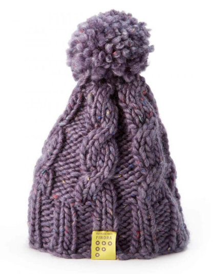 FINDRA bobble hat in heather purple available at FLOW MTB