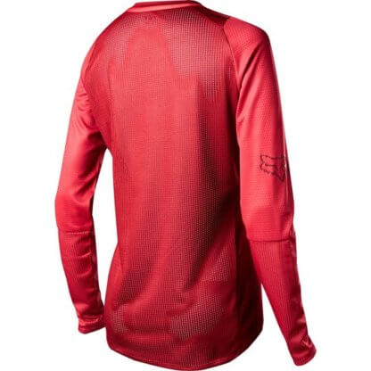 Fox Women's DEFEND Long Sleeve MTB Jersey - Cardinal