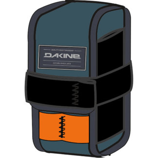 Dakine Hot Laps Gripper mountain bike frame bag in slate blue