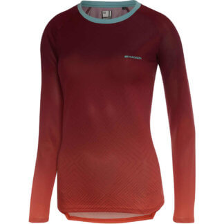 Madison Flux women's MTB long sleeve jersey burgundy