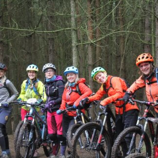 Flow MTB women's social mountain bike rides at woburn / aspley woods