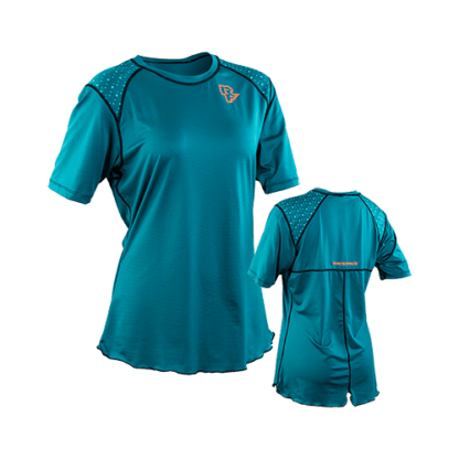 Race Face Indiana Women's MTB short sleeve jersey in dark spruce, 2019
