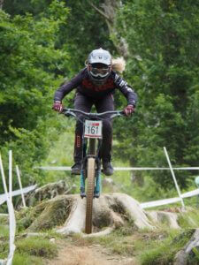 Emily Beckett - round 3 National Downhill Series, Bala