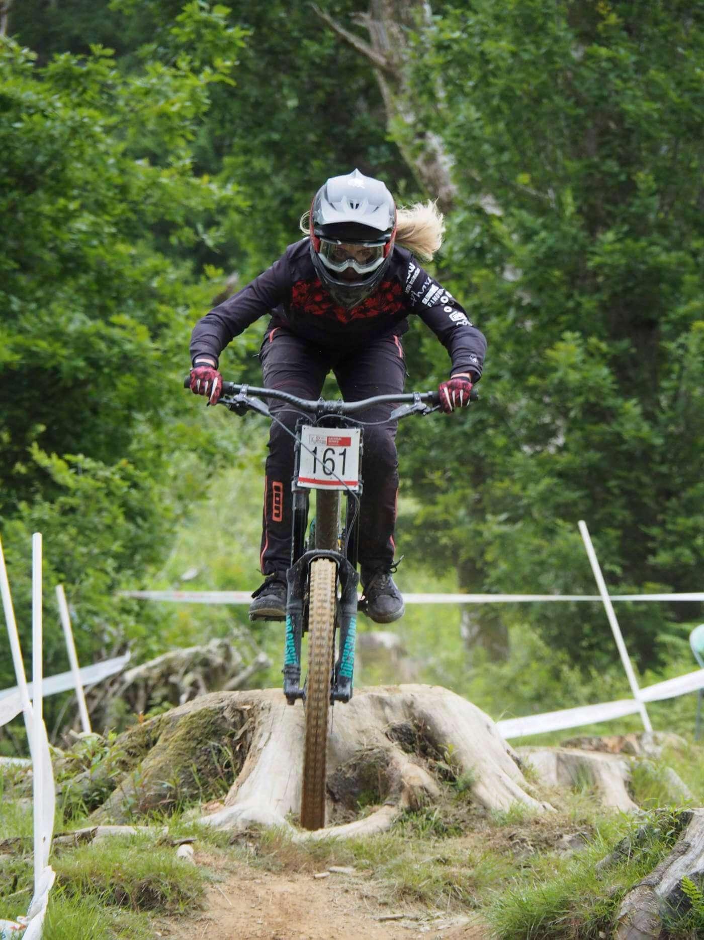 Emily Beckett - round 3 National Downhill Series, Bala