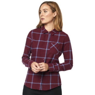 Fox Women's Roost Flannel shirt in Cranberry from Flow MTB