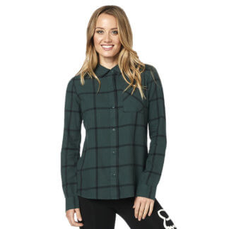 Fox Women's Roost Flannel shirt in Emerald Green from Flow MTB