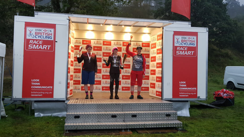 Rebecca Smith, Flow MTB - National Downhill series podium