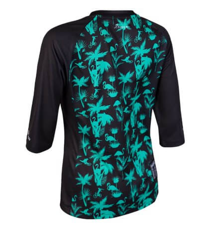 DHaRCO Women's 3/4 Sleeve MTB Jersey - Aqua Party Print