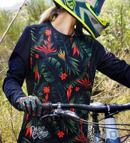 DHaRCO Women's Long Sleeve MTB Jersey - Tropical