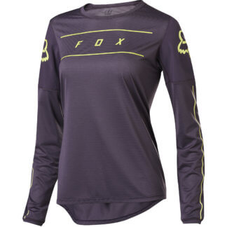 Fox Women's Flexair Long Sleeve MTB Jersey - Purple