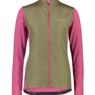 Mons Royale Women's Phoenix Wind Jersey MTB Jacket in Rosewood and Olive