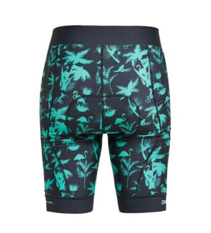 DHaRCO Women's Padded Liner Shorts - Aqua Party