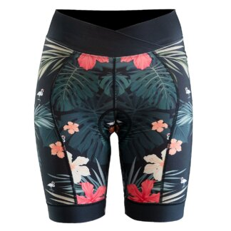 DHaRCO Women's Padded Liner Shorts - Hawaiian Flamingo